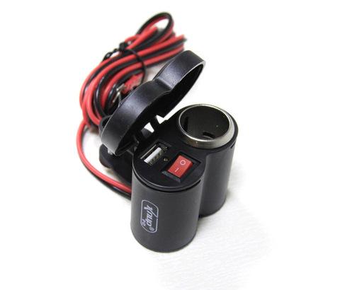 Прикуриватель и USB-разъем с кнопкой включения, X-76