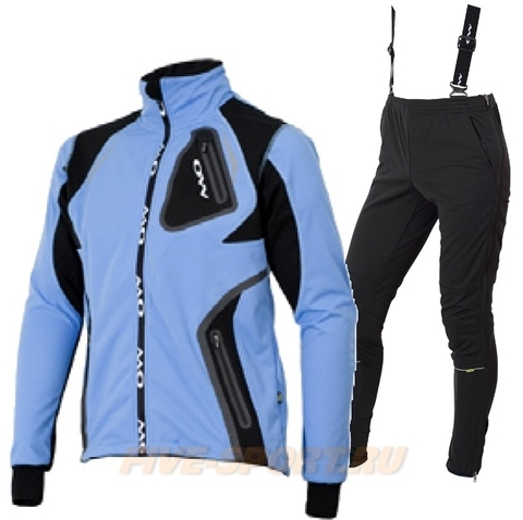 ONE WAY VALBOR-VICO женский лыжный костюм синий