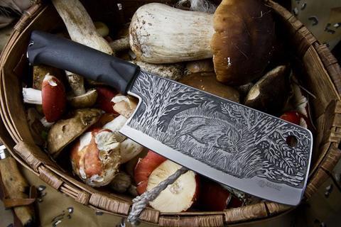 Туристический нож Вепрь с глубоким Рисунком