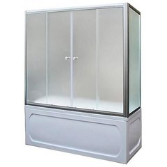 Шторка для ванны 1Marka 4604613000585 150х140 МS каркас хром