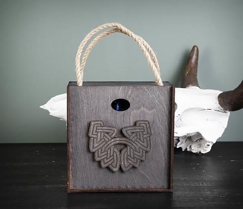 BOX217-1 Большая подарочная коробка с логотипом Бороды