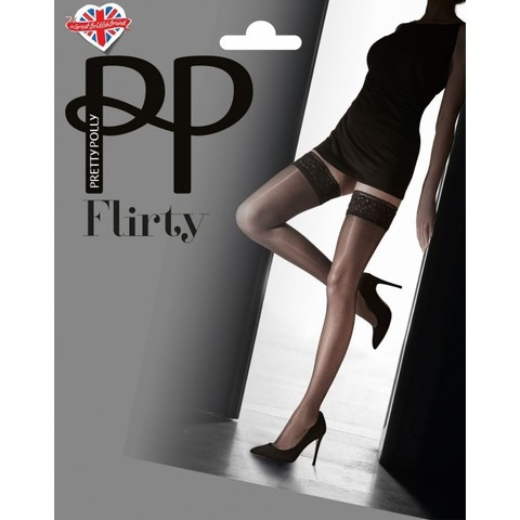 Чулки на ажурной резинке Pretty Polly AVR6