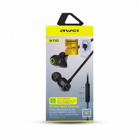 Наушники вакуумные Bluetooth AWEI WT10, black