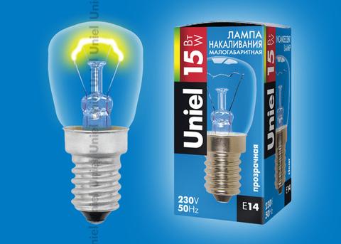 IL-F25-CL-15/E14 Лампа накаливания для холодильников. Картонная упаковка