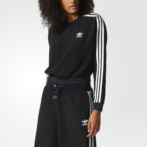 Свитшот женский adidas ORIGINALS 3S CROP SWEATER
