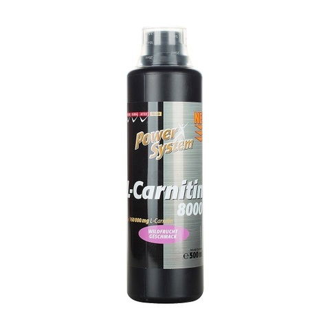 L-карнитин 8000 мг (дикая ягода), БУТЫЛКА 500 мл Пауэр Систем