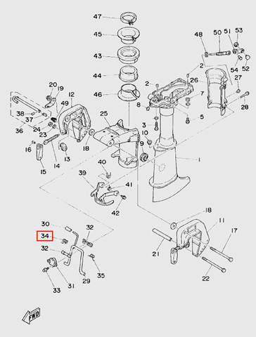 Пружина кронштейна поднятия мотора для лодочного мотора T5 Sea-PRO (10-34)