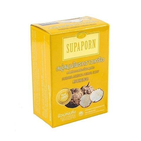 Мыло с экстрактом пуэрарии и маслом рисовых отрубей, SUPAPORN, 100 гр.