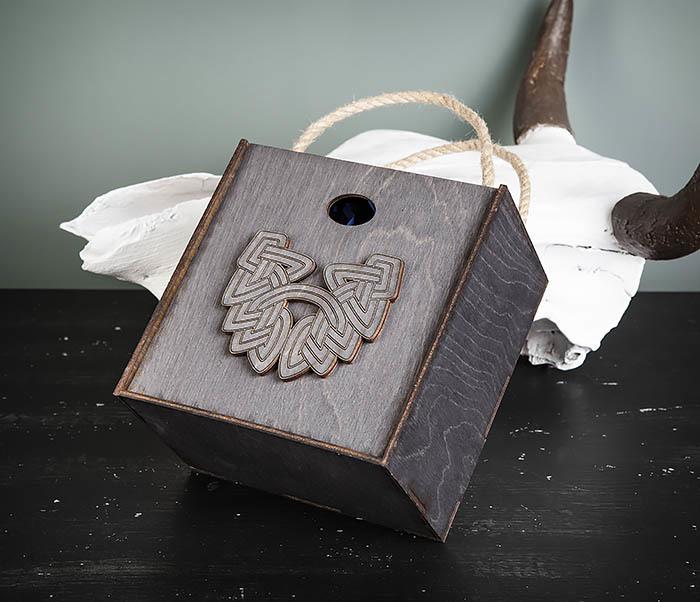 BOX217-1 Большая подарочная коробка с логотипом Бороды фото 03