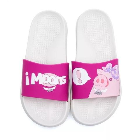 Тапочки свинки ярко-розовые
