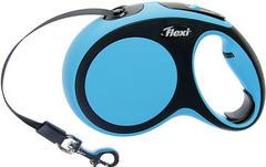 Flexi New Comfort L 5м. 60кг., рулетка-Ремень (синяя)