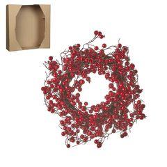 Венок из красных ягод 40см House of Seasons