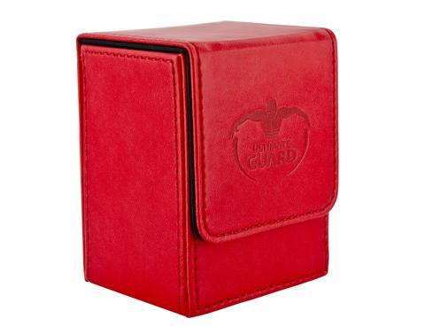 Ultimate Guard - Красная кожаная коробочка на 100+ карт для Коммандера