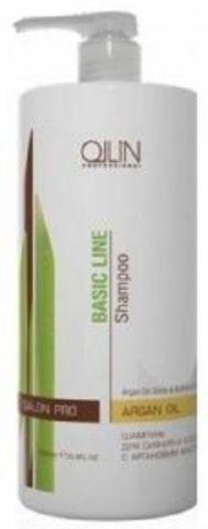 Шампунь для сияния и блеска с аргановым маслом, Ollin Basic Line,750 мл.