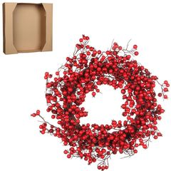 Венок из красных ягод 50см House of Seasons