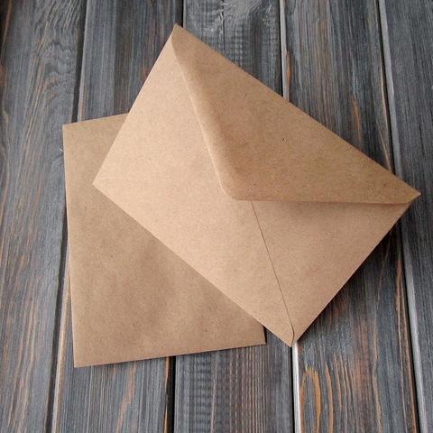 Крафт-конверт С6 (114*162мм) треугольный клапан