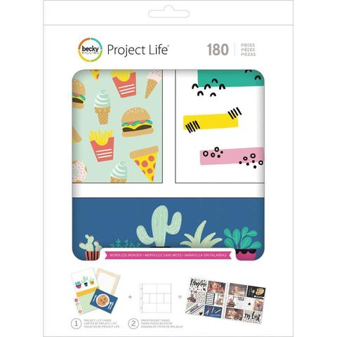 Карточки для Project life 180 шт (прямые углы)- Wordless Wonder