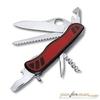 Нож перочинный Victorinox Forester One Hand 111мм 10 функций с фикс красно-черный (0.8361.MWC) швейцарская карта victorinox swisscard onyx 10 функций прозрачный черный 0 7133 t3