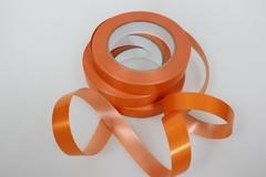 Лента простая (2см*50м) Гладкая без тиснения/Оранжевая