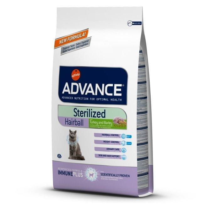 Сухой корм Корм для вывода шерсти у стерилизованных кошек, Advance Sterilized Hairball, с индейкой и рисом 921864.jpg