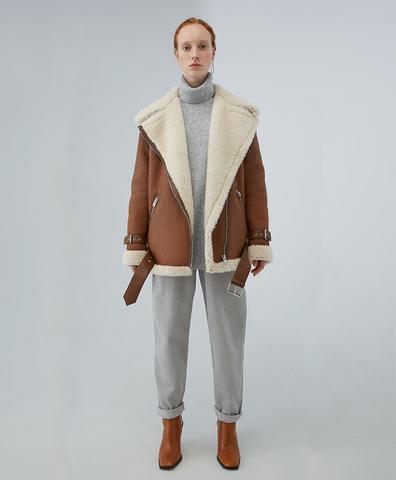 Дубленка Ginger Aviator Shearling Coat