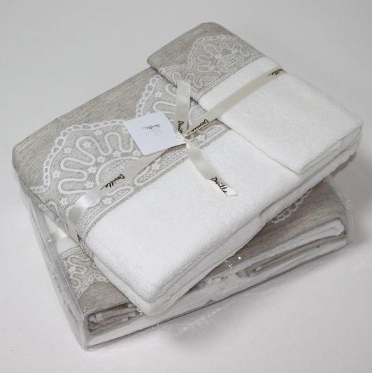Набор полотенец 3 шт Devilla Lille махра белый