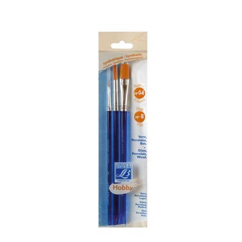 Набор кистей Lefranc&Bourgeois Hobby X3 [0/6/8], синтетика, короткая ручка