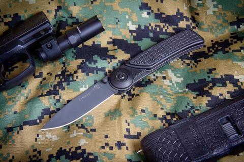Складной нож Байкер-1  Черный Эластрон