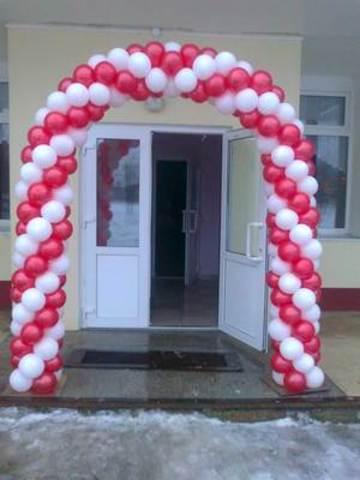 арка на вход из воздушных шаров