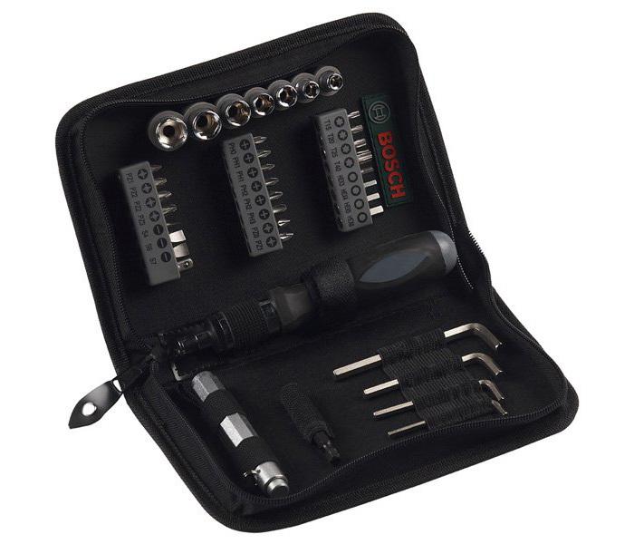 Набор 38шт бит/ торцевых головок Promoline Bosch 2607019506