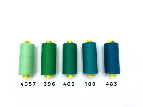 Нитки GUTERMANN Mara №150 зеленые цвета