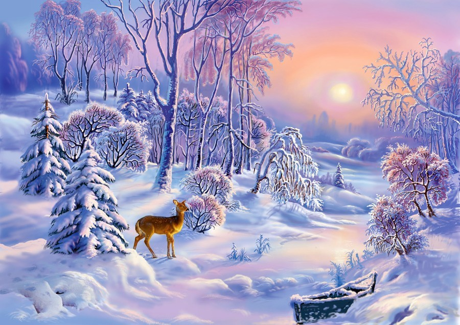 Картинки зимы красивые для детей