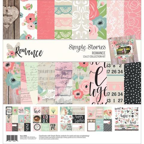 Набор двусторонней бумаги 30х30см -Simple Stories Collection Kit - Romance
