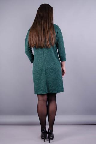 Берта. Оригинальное платье больших размеров для женщин. Изумруд.