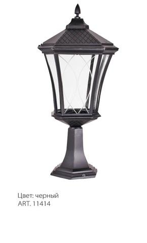 Светильник садово-парковый, 60W 230V E27 IP44 черный, PL4033 (Feron)