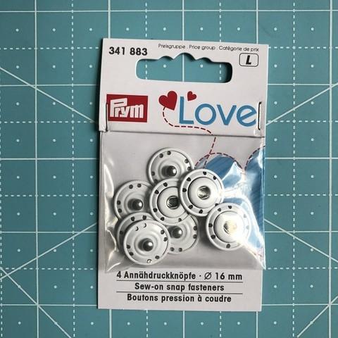 Пришивные кнопки Prym Love. 16 мм, упак./4 шт. (Арт. 341883)