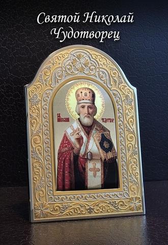 Икона Николай Чудотворец (Златоуст) большая