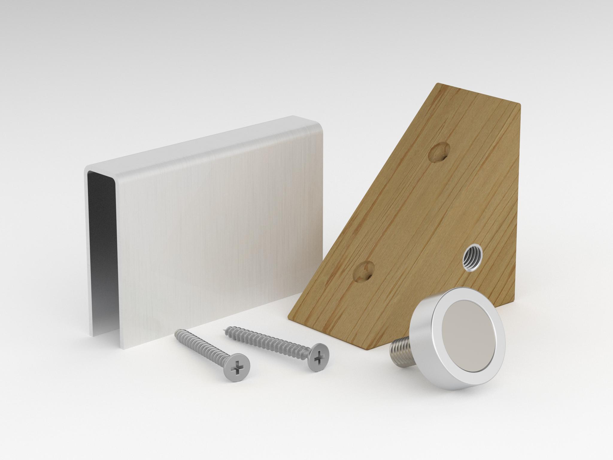Для дверей: Магнитная защелка для двери SAWO 574-SET (741 и 742) комплектующие