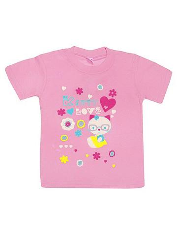 DL11-1-25 Футболка детская, светло-розовая