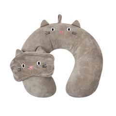 Подушка Cat дорожная с маской