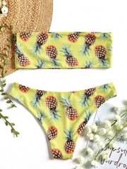 купальник желтый бандо ананас