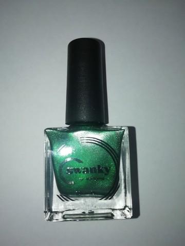 Лак для стемпинга Swanky Stamping Metallic 08, темно-зелёный, 10 мл.