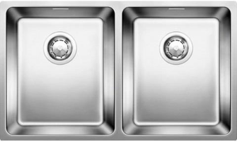 Кухонная мойка Blanco ANDANO 340/340-U, без клапана-автомата, нержавеющая сталь