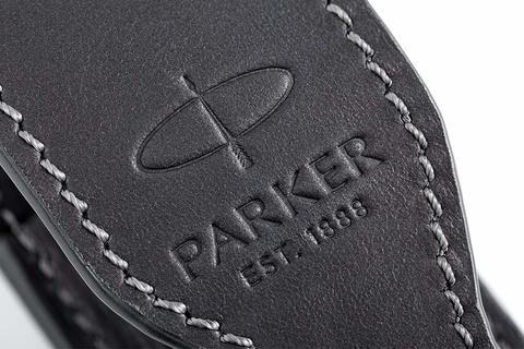 Чехол Parker из натуральной кожи, цвет матово-черный123