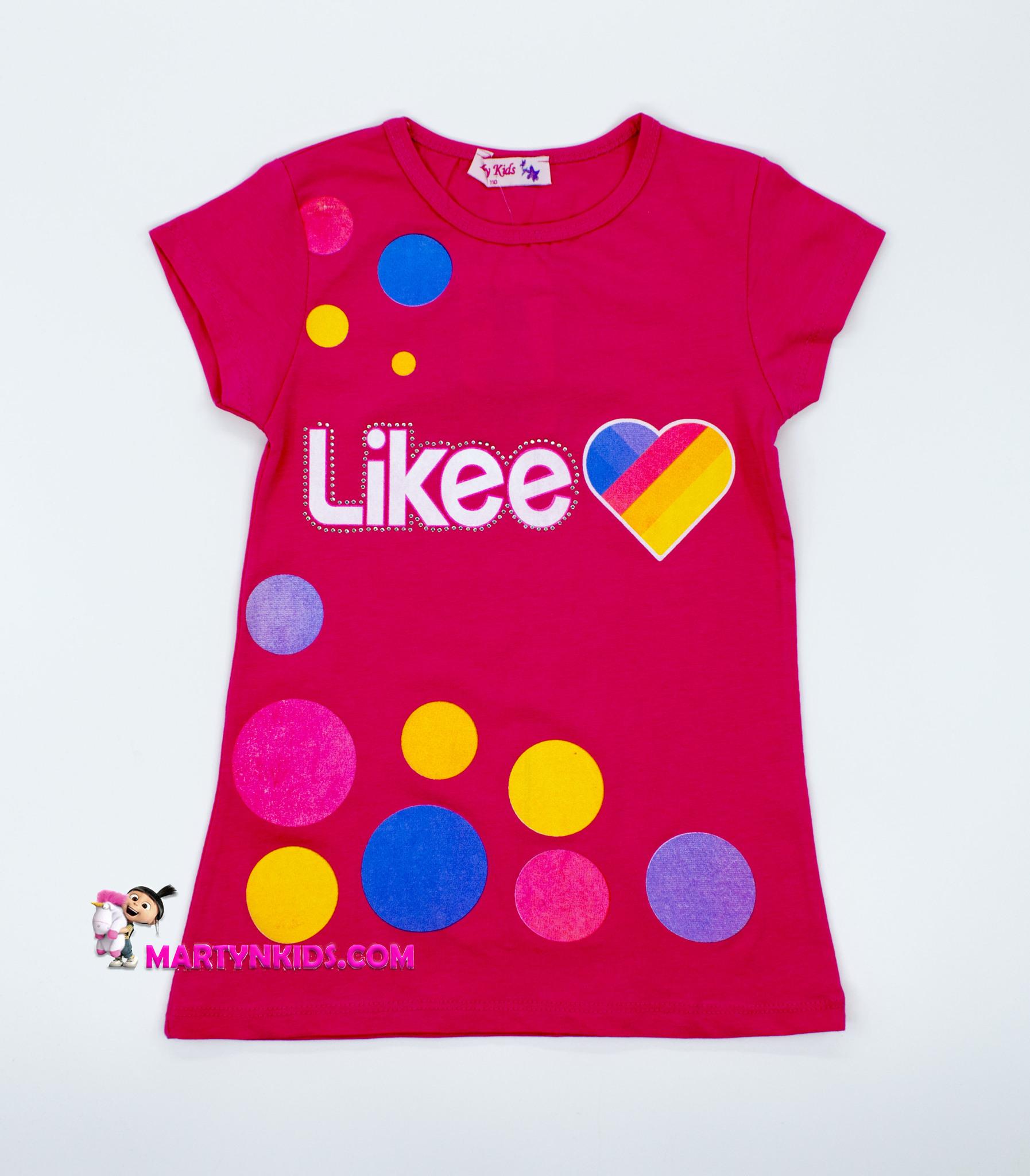 2598  футболка Likee шарики