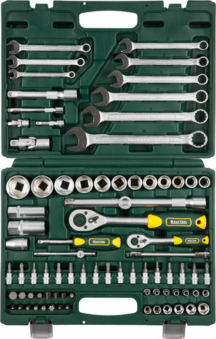 KRAFTOOL X-Drive 82 универсальный набор инструмента 82 предм.