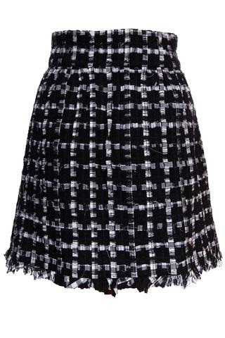 Красивая черно-белая твидовая юбка от Chanel, 42 размер