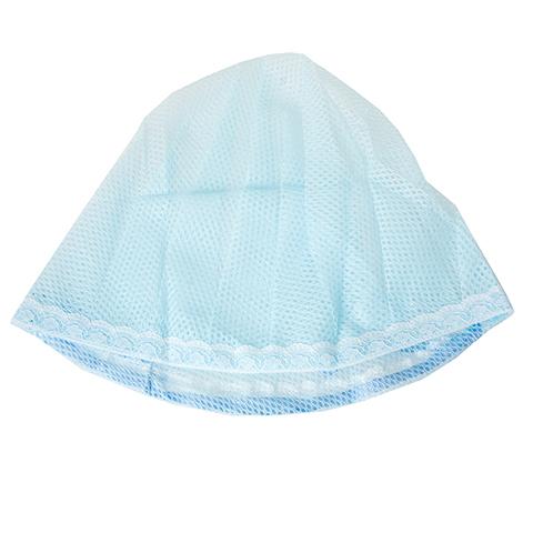 Сеточка для волос с креплением на шнурке голубая