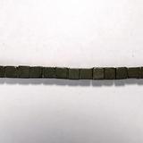 Бусина из пирита, фигурная, 6 мм (куб, гладкая)