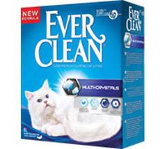 EVER CLEAN Multi Crystals Наполнитель д/кошек с добавлением кристаллов (сиреневая полоса)